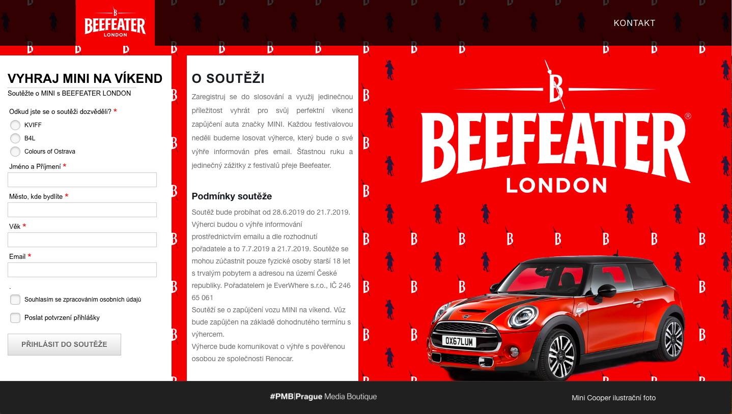 Beefeater festival digital stamp card